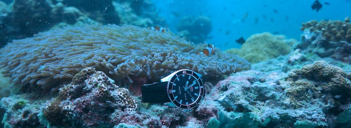 美度表領航者系列長動能防水腕表 潛水實測