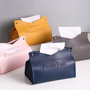 皮革纸巾盒