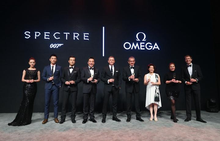 欧米茄携手丹尼尔•克雷格 庆祝《007:幽灵党》在华盛大上映