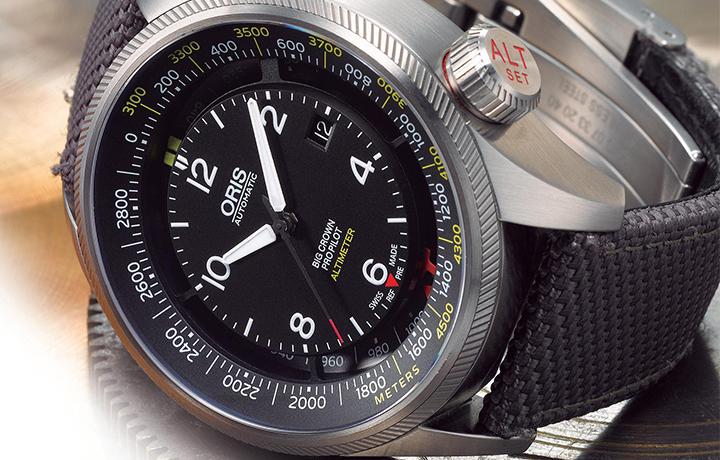 首创机械高度计腕表——豪利时ORIS Big Crown ProPilot Altimeter