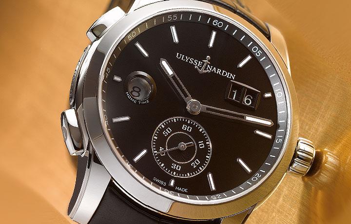 方便操作的旅行神器——雅典表 ULYSSE NARDIN  独创双时区腕表