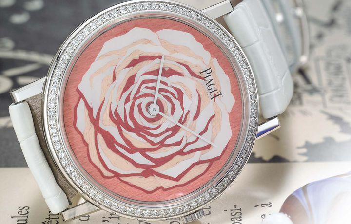 伯爵 PIAGET Altiplano 珍珠贝母木质细工镶嵌腕表 以玫瑰为名