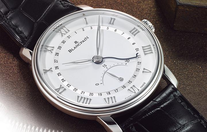 BLANCPAIN 宝珀逆跳小秒针日期指示超薄腕表