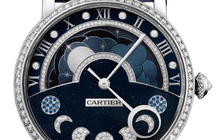 卡地亚 Rotonde de Cartier昼夜显示月相腕表 更闪耀的日夜