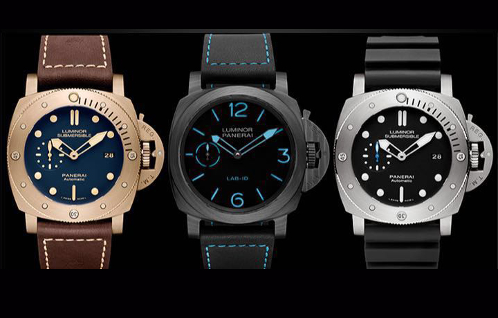 『SIHH2017』沛纳海:LAB-ID 碳纤维腕表,钛壳、铜壳、金属玻璃潜水腕表,美洲杯主题