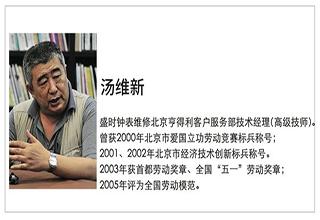 """盛时网对话全国劳模汤维新:他能让钟表""""起死回生""""!"""