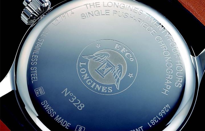 浪琴 LONGINES Heritage 24 小时单按把计时秒表