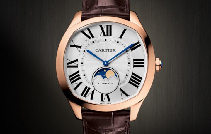 延续美学理念 卡地亚Drive de Cartier系列月相腕表