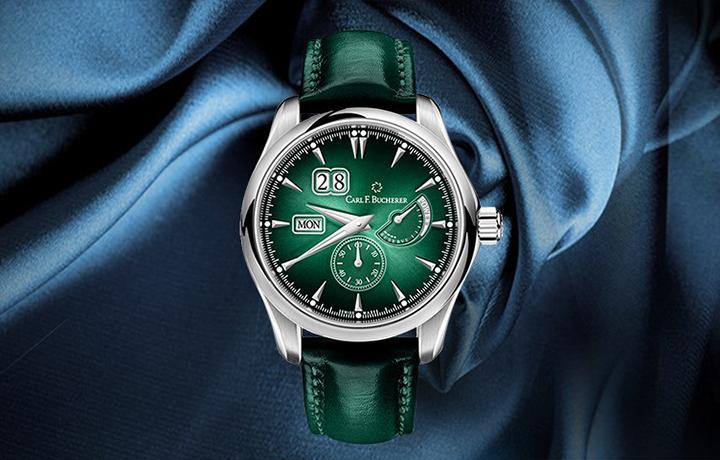 如梦如幻 品鉴宝齐莱马利龙外缘动储松绿色腕表