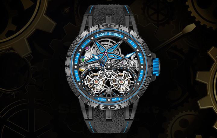 永创非凡 品鉴罗杰杜彼Excalibur系列双飞行陀飞轮腕表