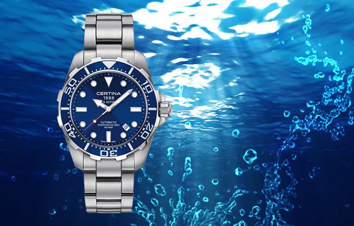 黑暗深海中的蛟龙 雪铁纳动能系列自动潜水表