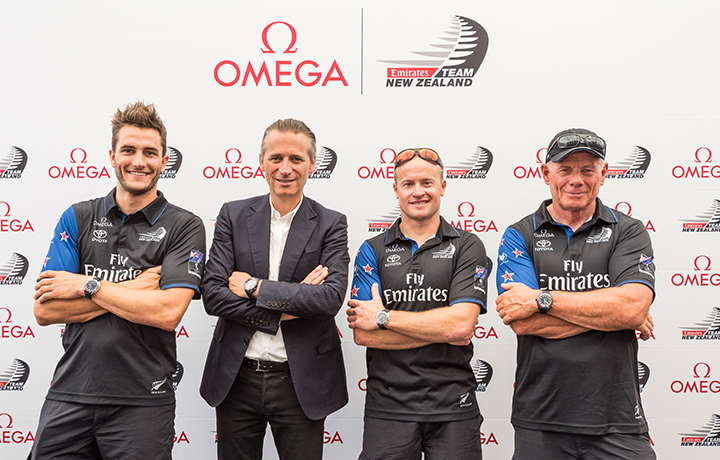 欧米茄盛大发布两款全新腕表  以精准助力新西兰酋长队征战第35届美洲杯帆船赛