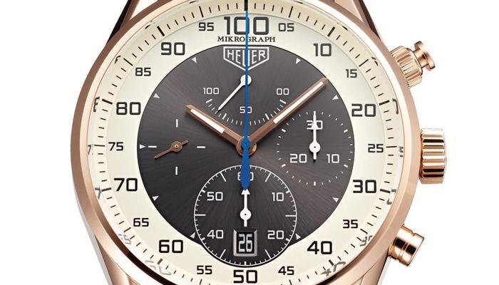 泰格豪雅 TAG HEUER Carrera Mikrograph 1/100秒计时秒表