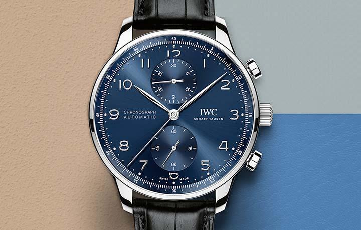 蓝色经典:新IWC葡萄牙计时码表