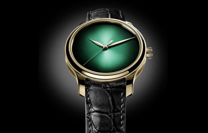 2017日内瓦表展 亨利慕时大三针宇宙绿概念腕表