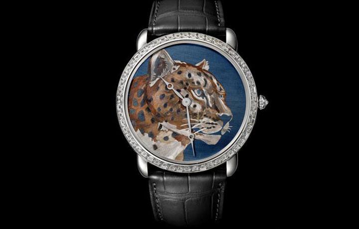 卡地亚焰金工艺猎豹装饰腕表