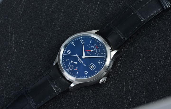 深蓝色的儒雅范儿,名士克里顿系列双时区动储显示腕表