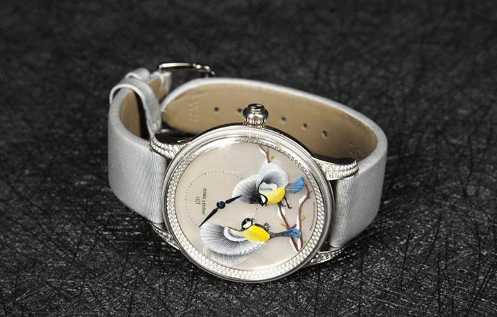 雅克德罗金雕雀鸟时分小针盘 – 四季系列腕表
