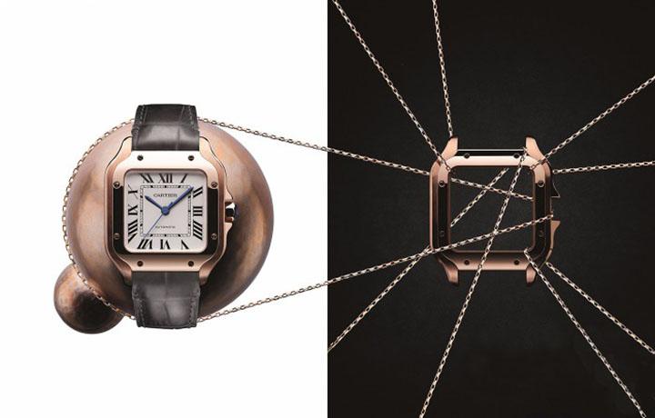 Santos de Cartier系列新作亮相2018日内瓦国际高级钟表展