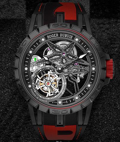 轮胎元素!罗杰杜彼与倍耐力携手发布全新单飞行陀飞轮腕表!