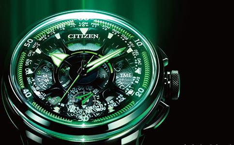 西铁城光动能手表怎么调时间呢?
