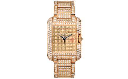 卡地亚全钻手表 于腕间的星光璀璨