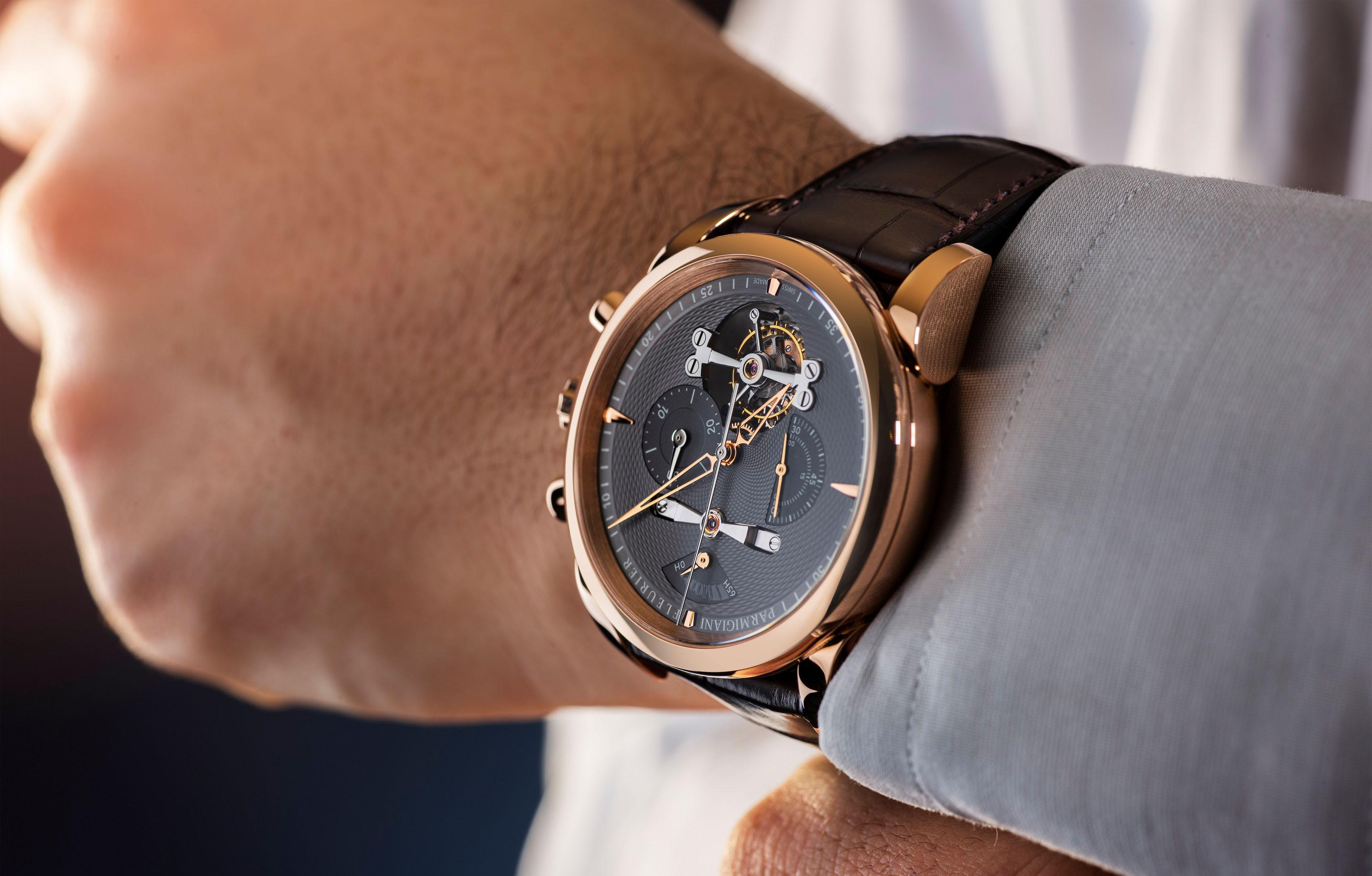 谱写浑圆之美和高级制表工艺的赞美诗歌 帕玛强尼荣推全新通达系列 (Tonda Collection) Tondagraph Tourbillon腕表