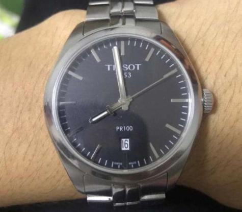 天梭手表pr100系列公价,石英表中值得推荐的手表