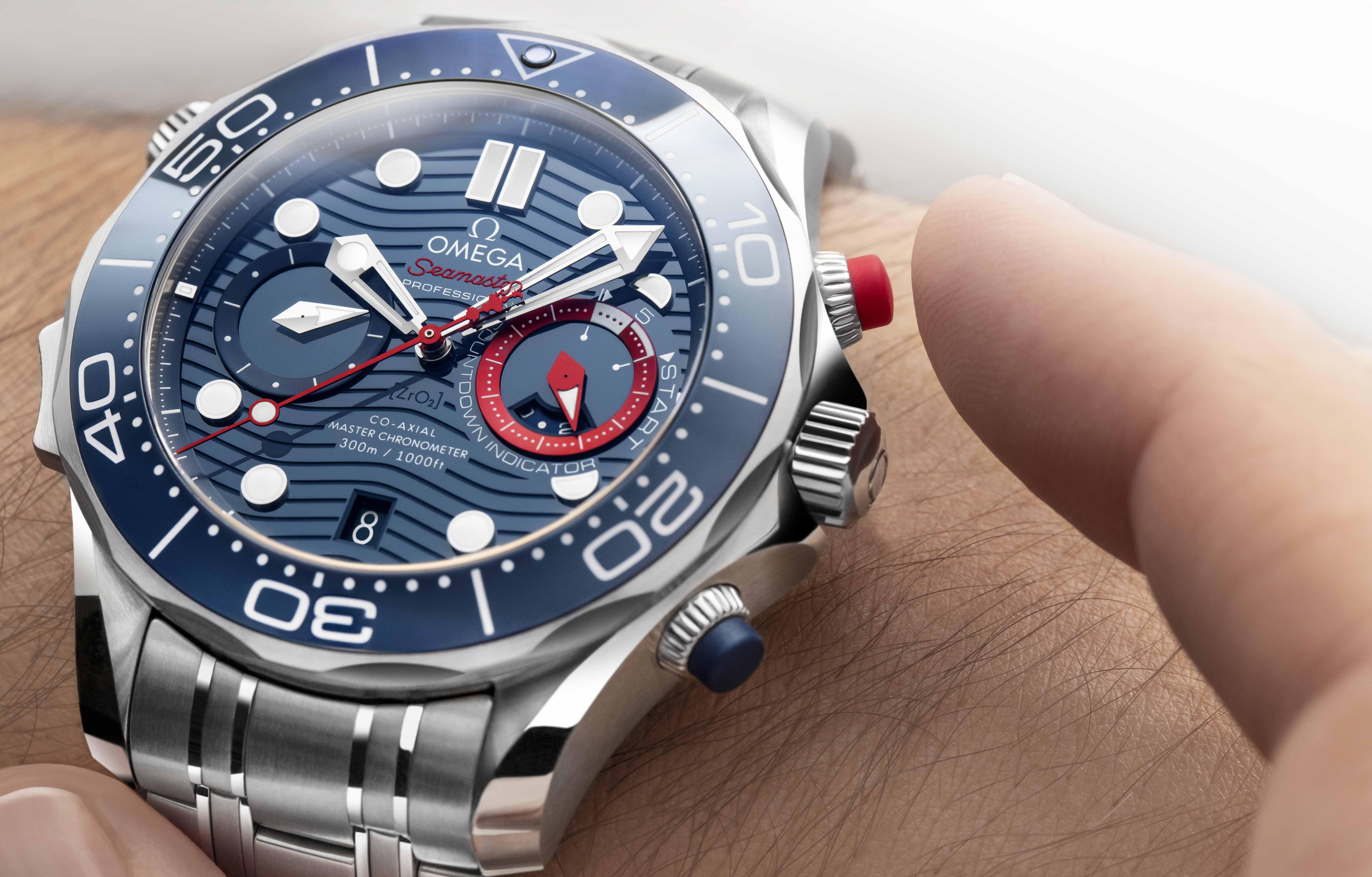 精準計時 助力美洲杯 歐米茄推出海馬系列300米潛水計時表美洲杯版