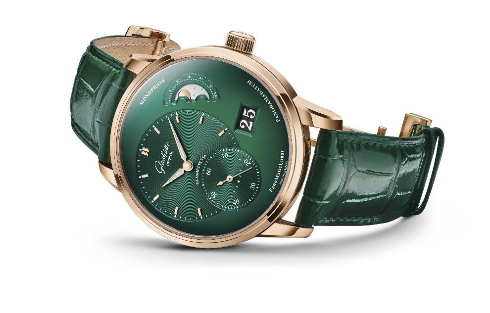 真正原创之风格 格拉苏蒂原创发布红金森林绿款偏心月相腕表
