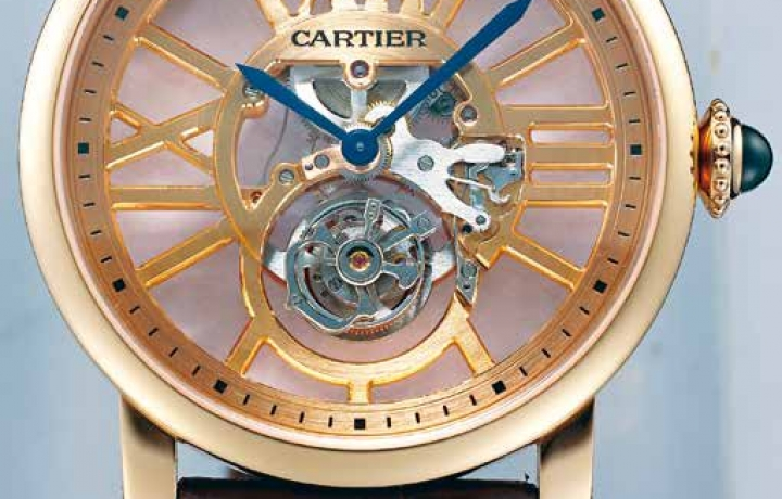 卡地亚CARTIER Rotonde de Cartier Flying Tourbillon Skeleton 神来之笔勒金石