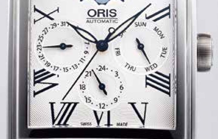 豪利时 ORIS Rectangular方型月相盈亏腕表
