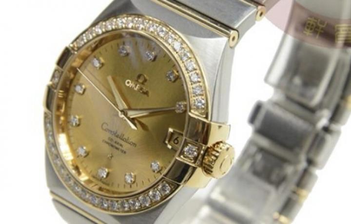 欧米茄女士镶钻手表
