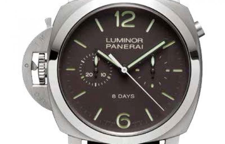 沛纳海PANERAI Luminor 1950 Chrono Monopulsante Left-handed 8 days Titanio腕表