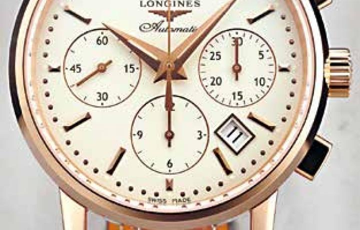 浪琴LONGINES Column-Wheel Chronograph腕表