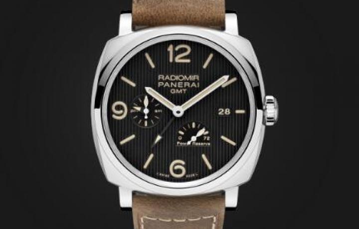 RADIOMIR 1940 3 DAYS GMT POWER RESERVE AUTOMATIC ACCIAIO - 45毫米三日动力储存显示两地时间自动精钢腕表