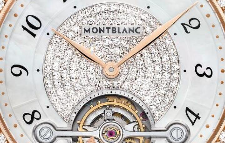 万宝龙宝曦系列外置陀飞轮超薄珠宝腕表