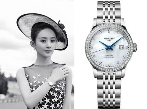 浪琴形象大使赵丽颖首次亮相优雅腕表成亮点