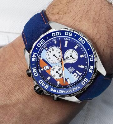 泰格豪雅全新推出Formula 1 Gulf计时码表和Monaco Gulf 50周年特别限量腕表