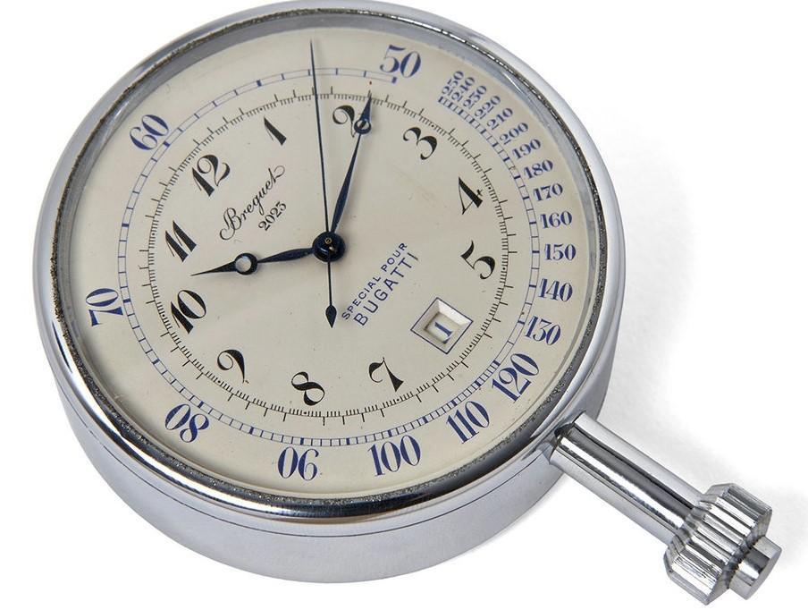 寶璣(BREGUET) 博物館的又一珍寶—— 古董計時碼表,一款專為布加迪定制的手表