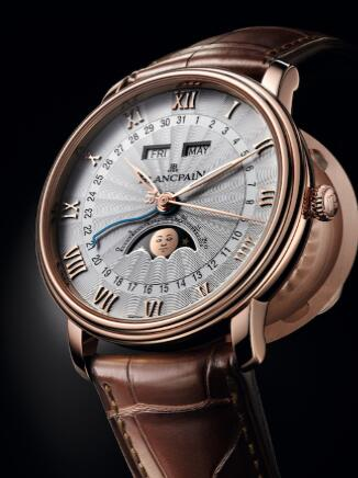 Blancpain宝珀Villeret经典系列全历月相半猎腕表
