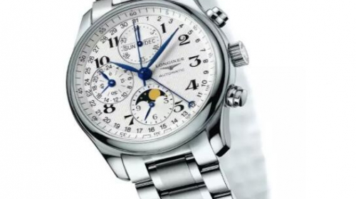 LONGINES浪琴表名匠系列精钢月相计时腕表