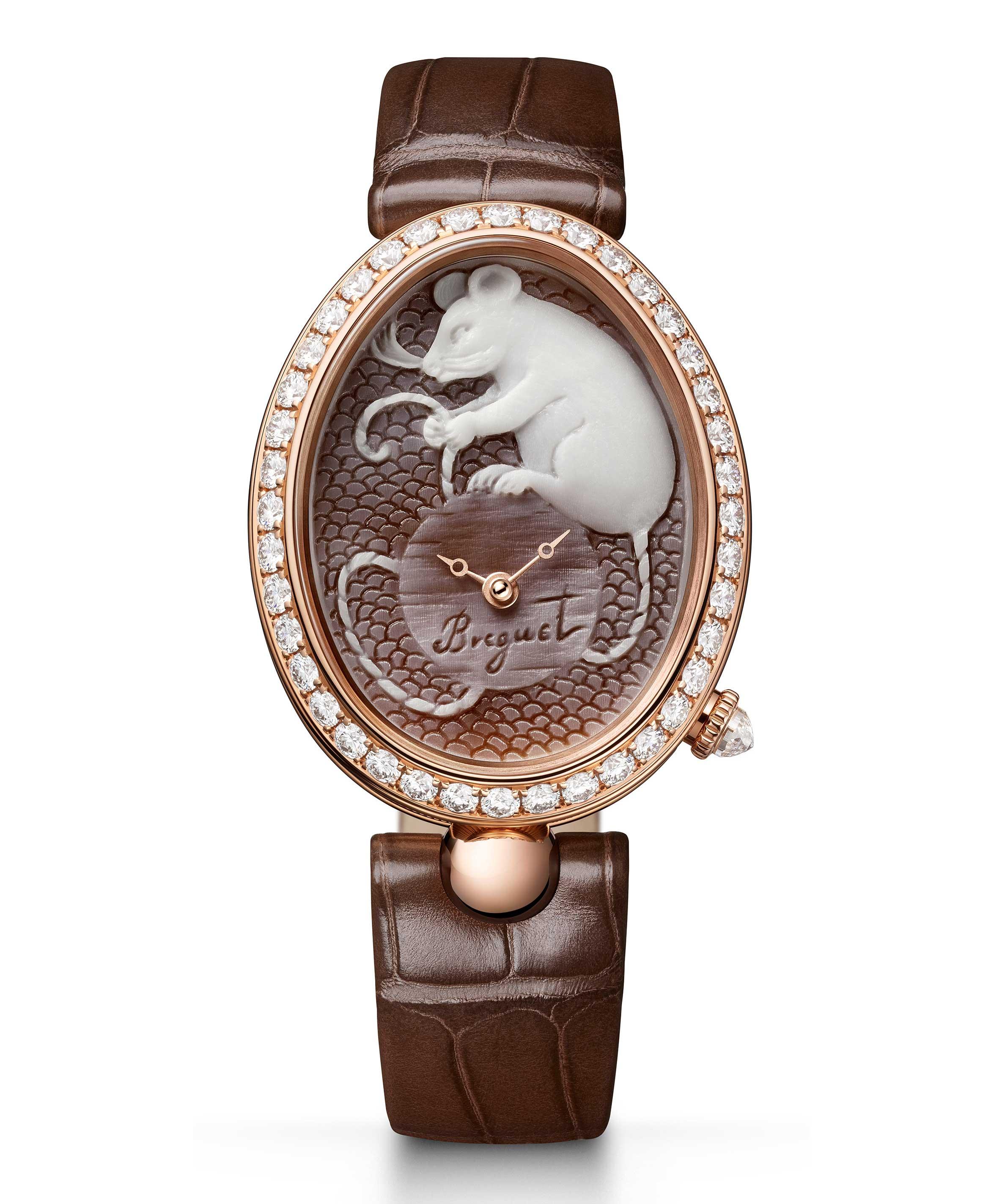 宝玑Reine de Naples那不勒斯王后系列——8955贝壳浮雕腕表 倾情献礼金鼠年