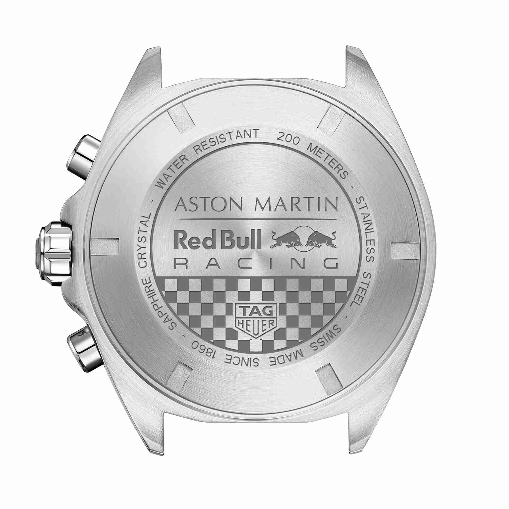 泰格豪雅推出全新F1系列计时码表, 庆祝与阿斯顿·马丁红牛车队长期合作伙伴关系