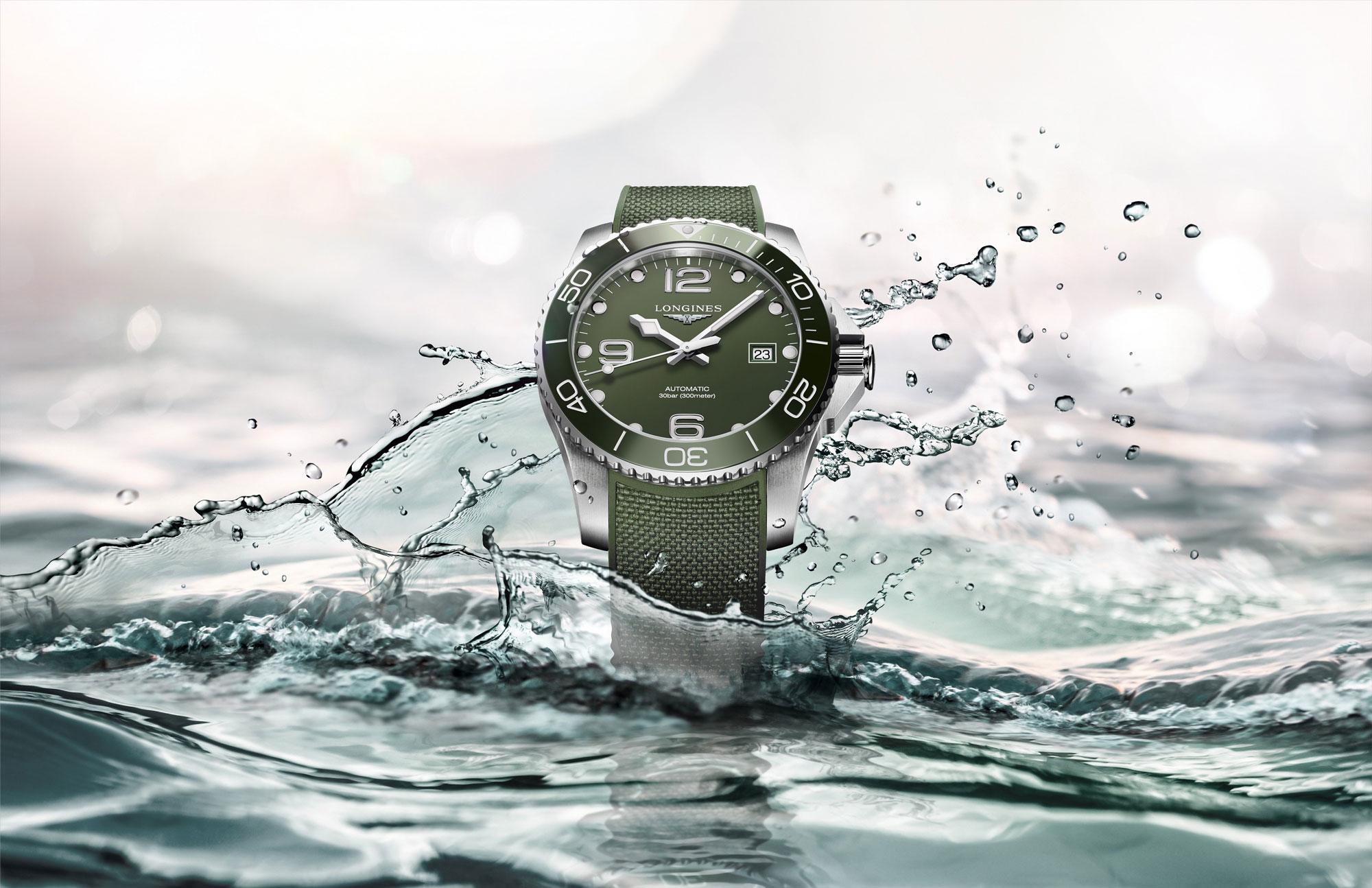 浪琴表推出全新康卡斯潜水系列绿色腕表