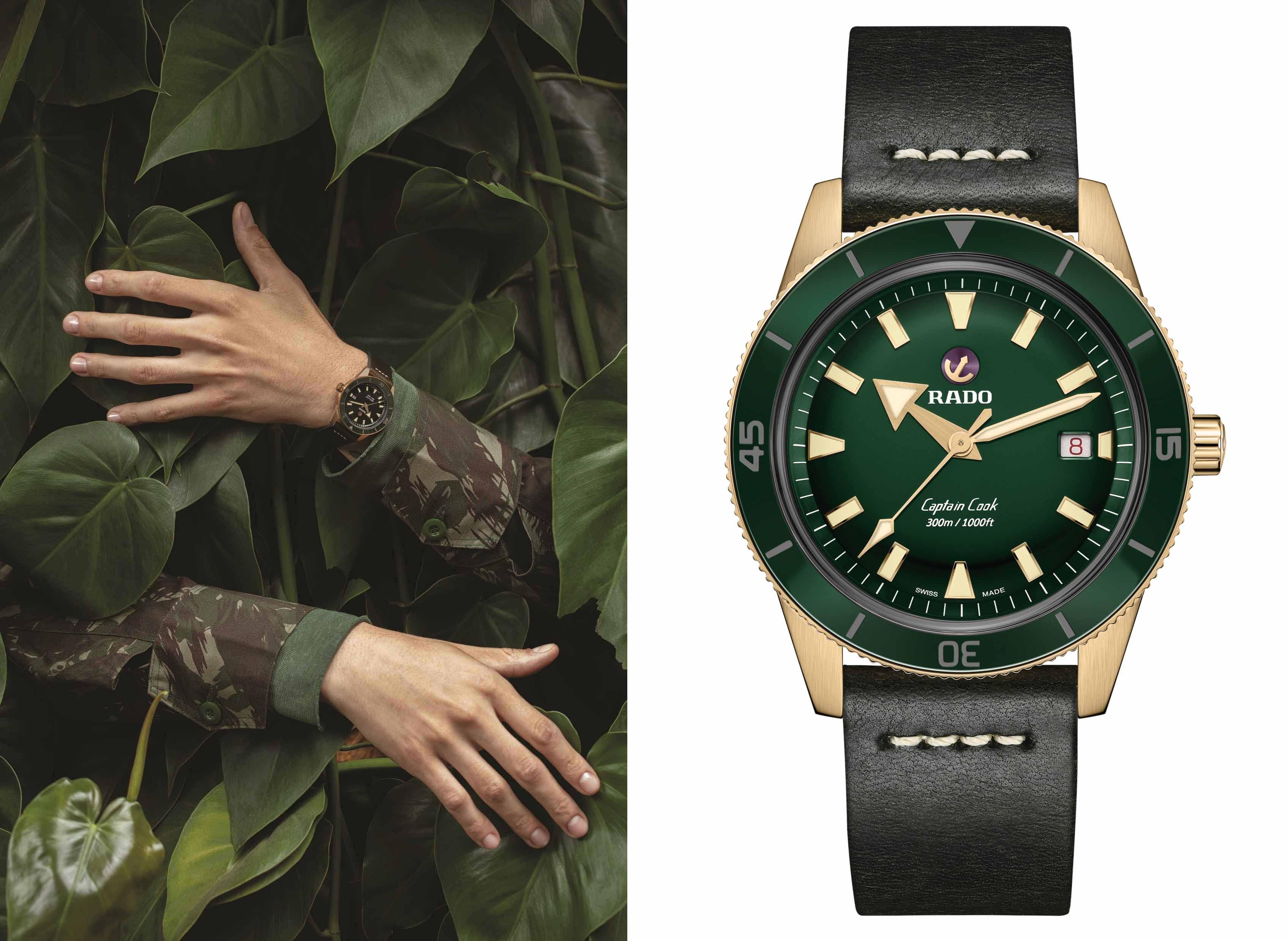 感知真我!青铜俊仕——Rado瑞士雷达表Captain Cook库克船长自动机械青铜腕表