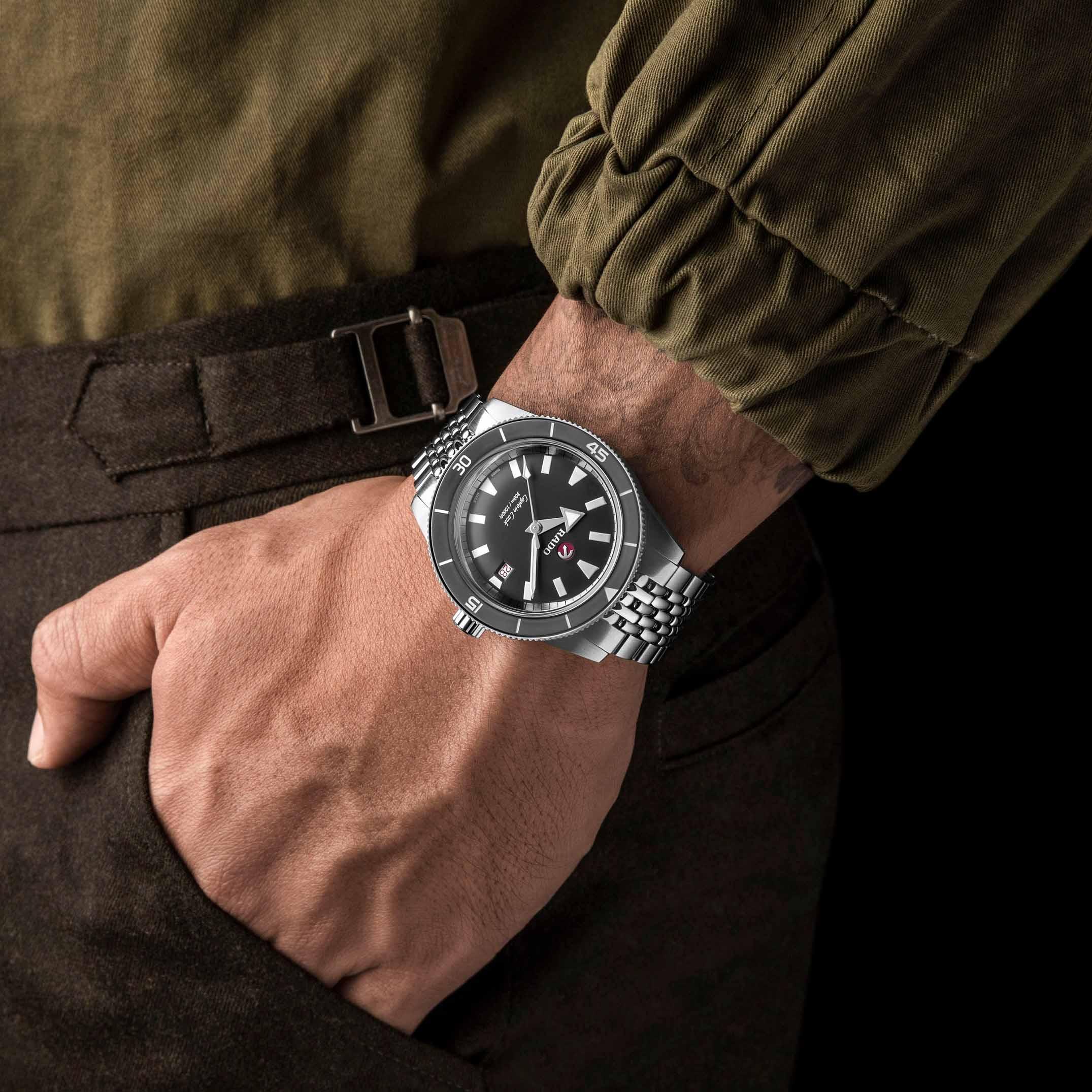 腕间灰调 | Rado瑞士雷达表Captain Cook库克船长暗影自动机械限量版腕表