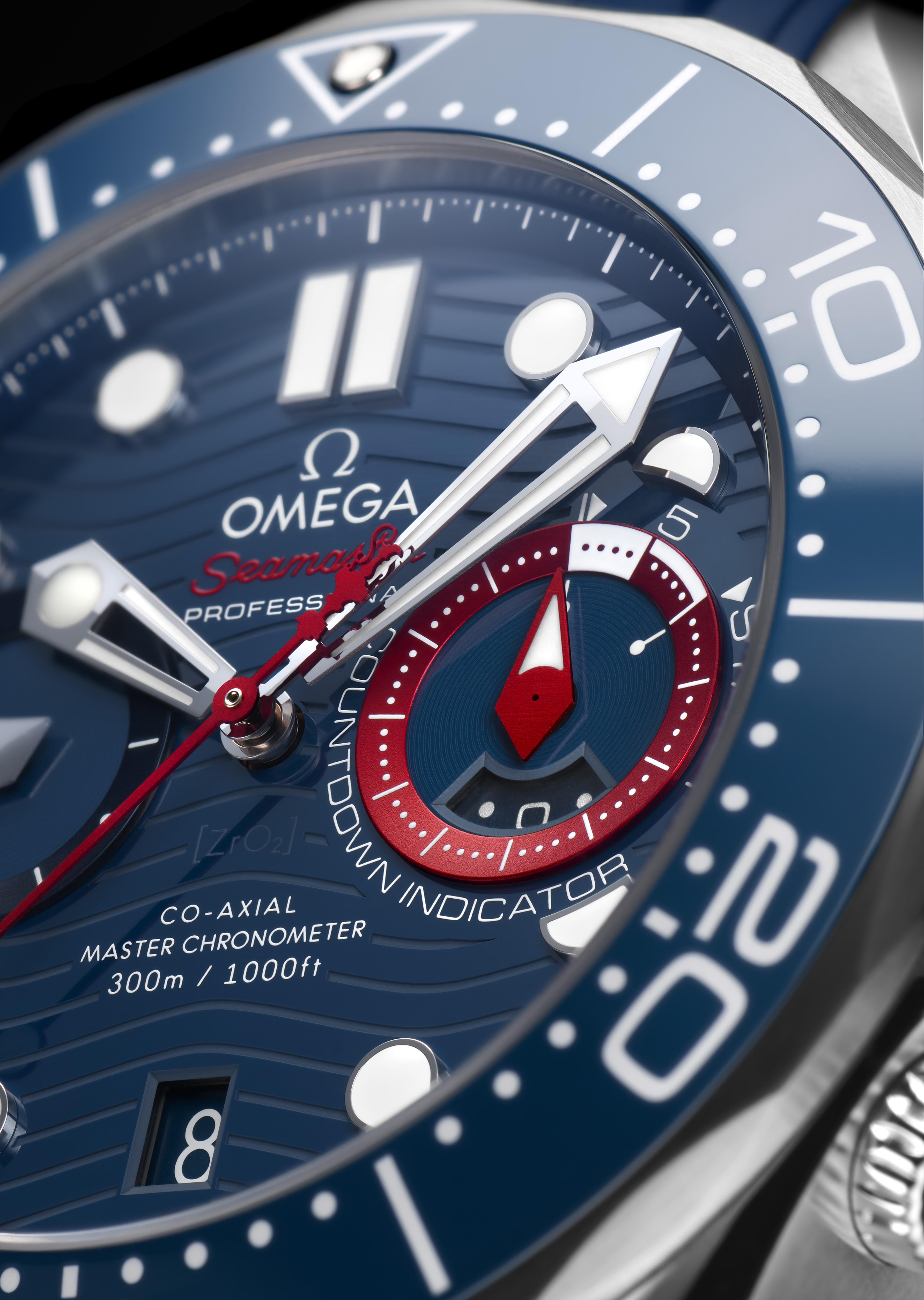 精准计时 助力美洲杯 欧米茄推出海马系列300米潜水计时表美洲杯版