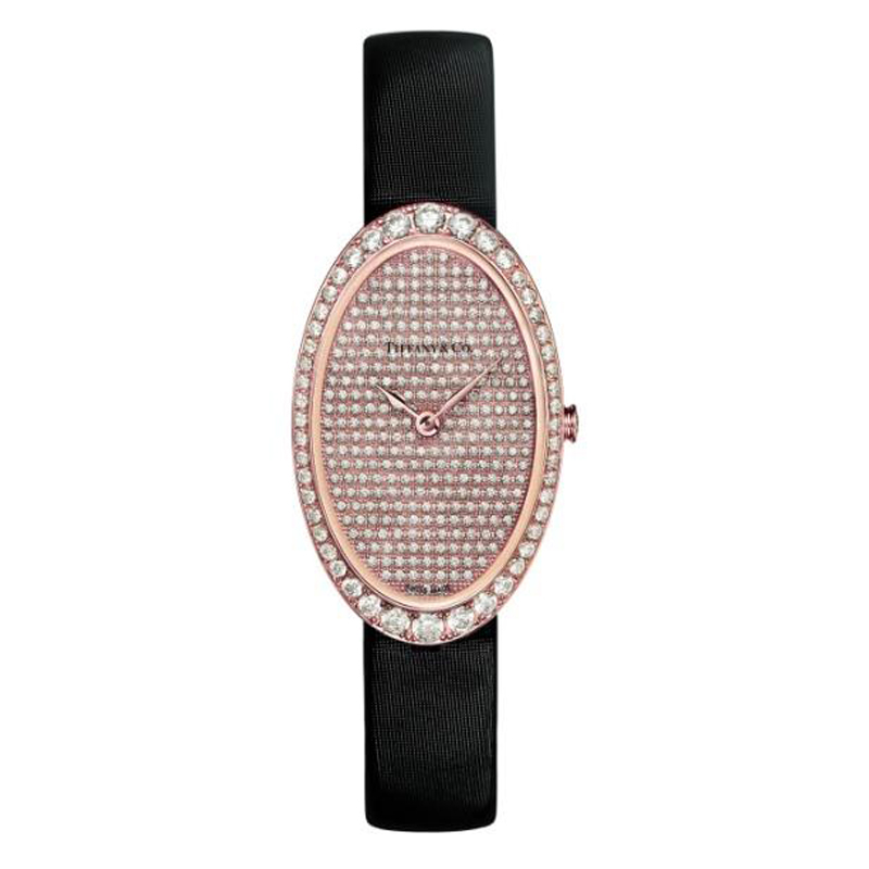 蒂芙尼 TIFFANY COCKTAIL系列 2-HAND 密镶钻石腕表 石英 女士