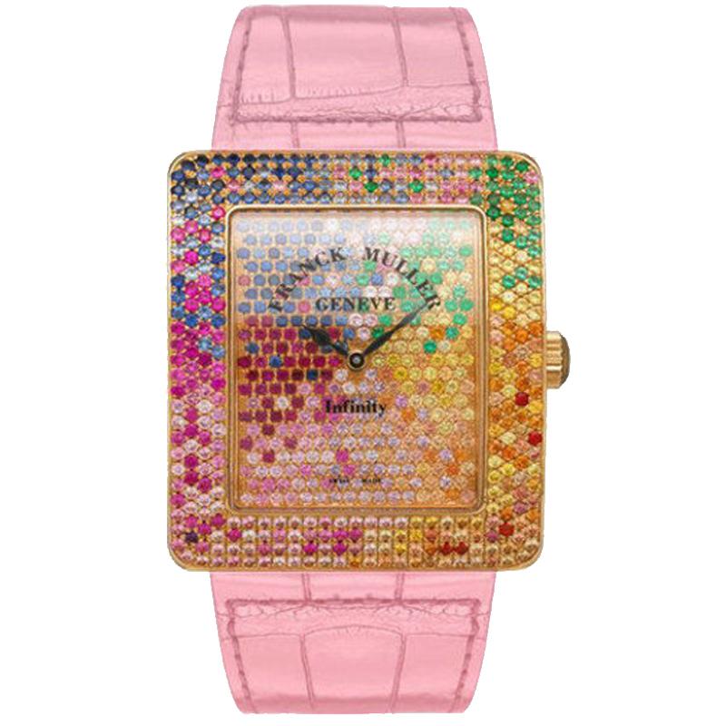 法穆兰 INFINITY 3740 QZ 4 SAI D CD 粉红色表带 石英 女士